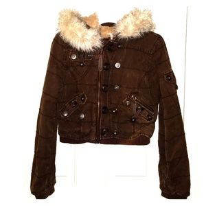 Jackets & Blazers - PICASSO STYLE Womens Stylish vintage brown Jacket